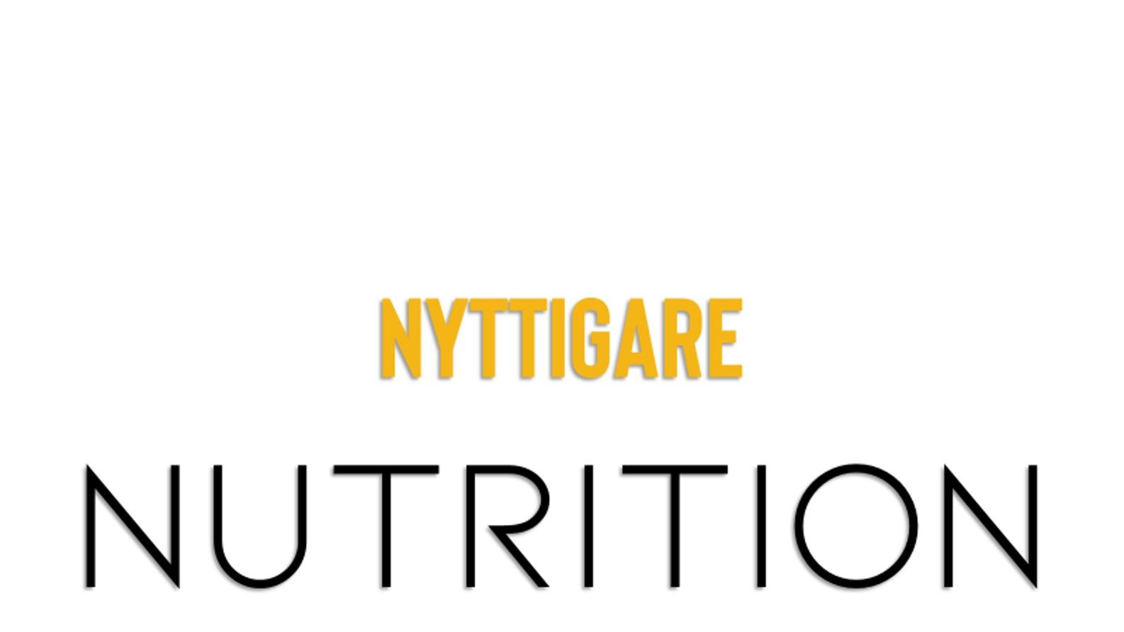 Nyttigare nutrition