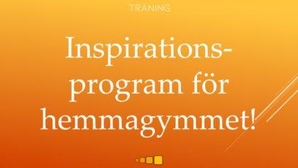 Inspirationsprogram för hemmagymmet