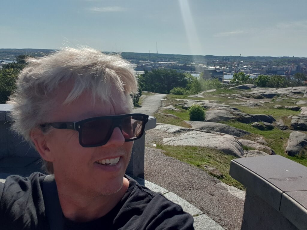 Per Olsson på Rambergets utsiktsplats