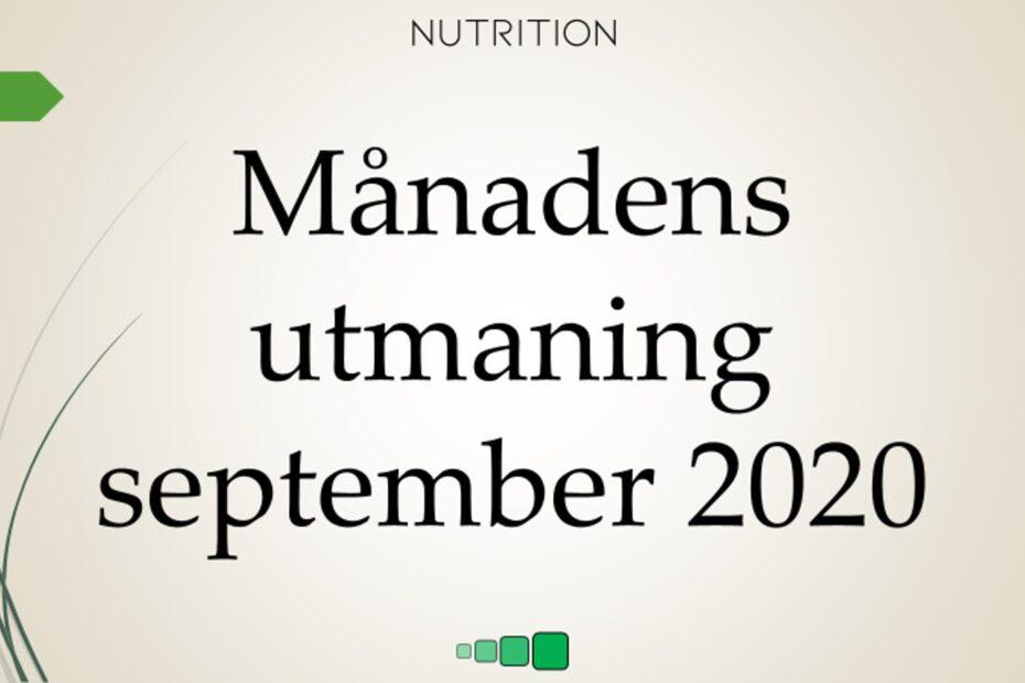 Månadens utmaning september 2020