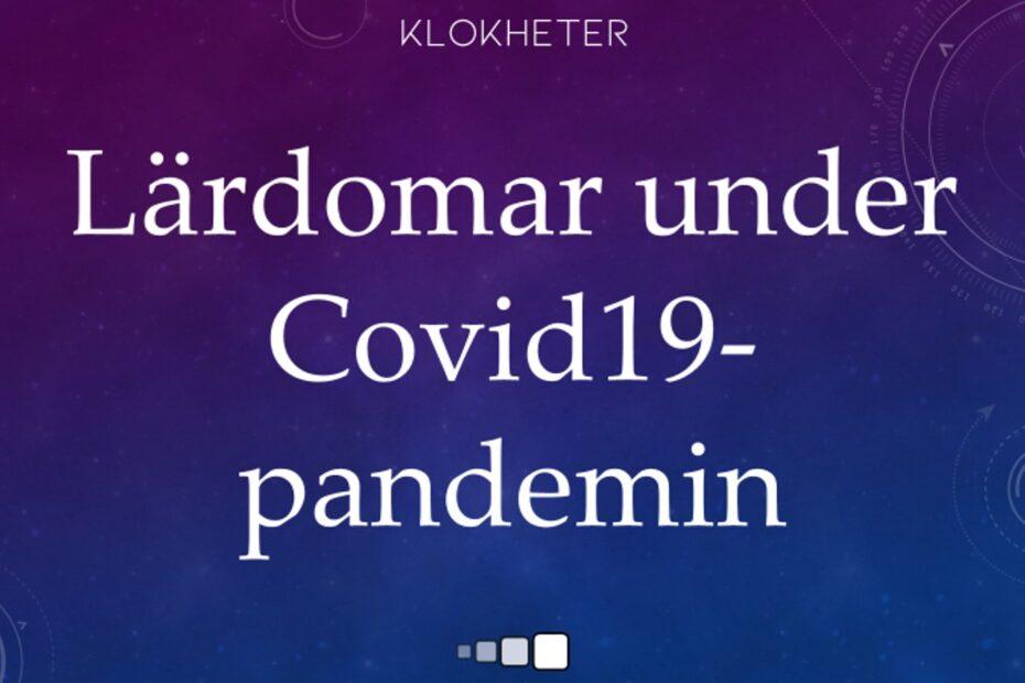 Lärdomar under Covid19-pandemin
