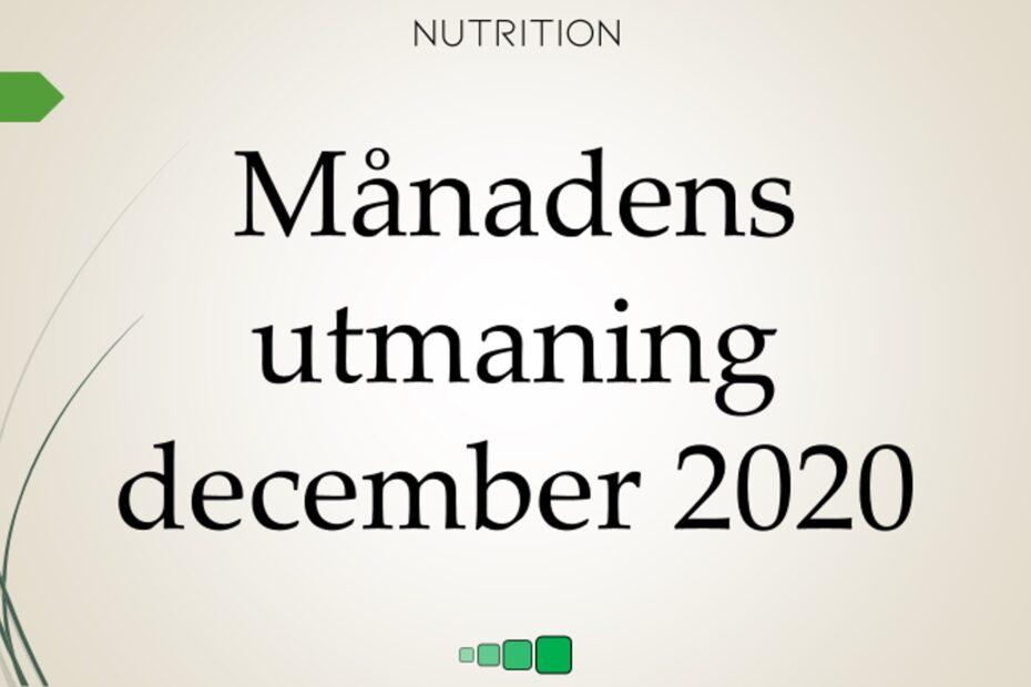 månadens utmaning december 2020