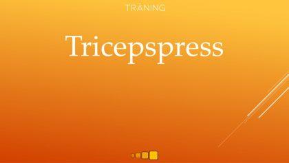 tricepspress