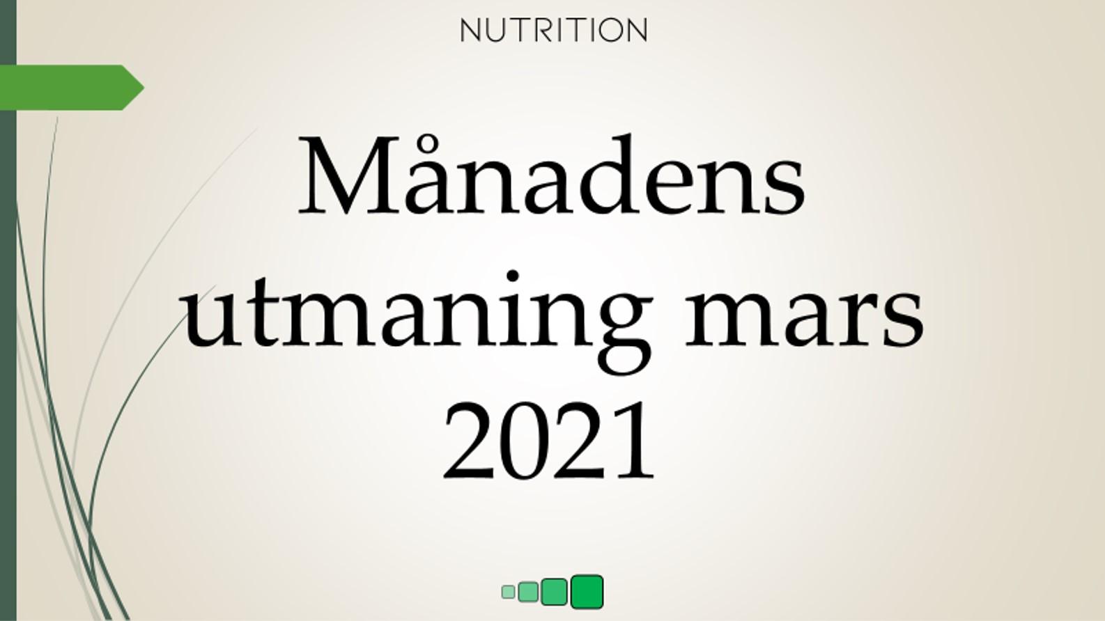 månadens utmaning mars 2021