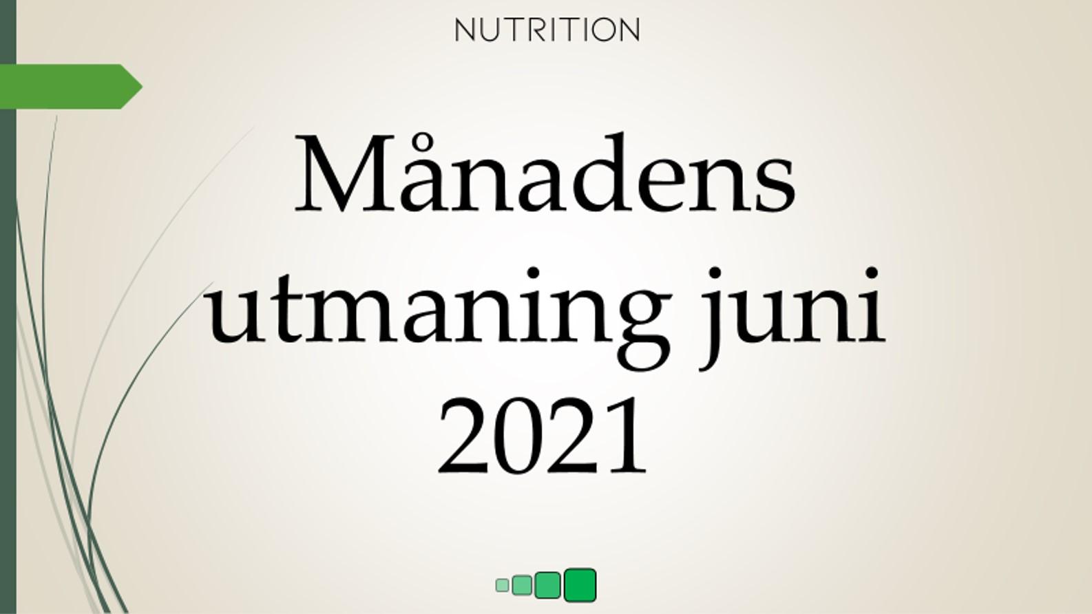månadens utmaning juni 2021